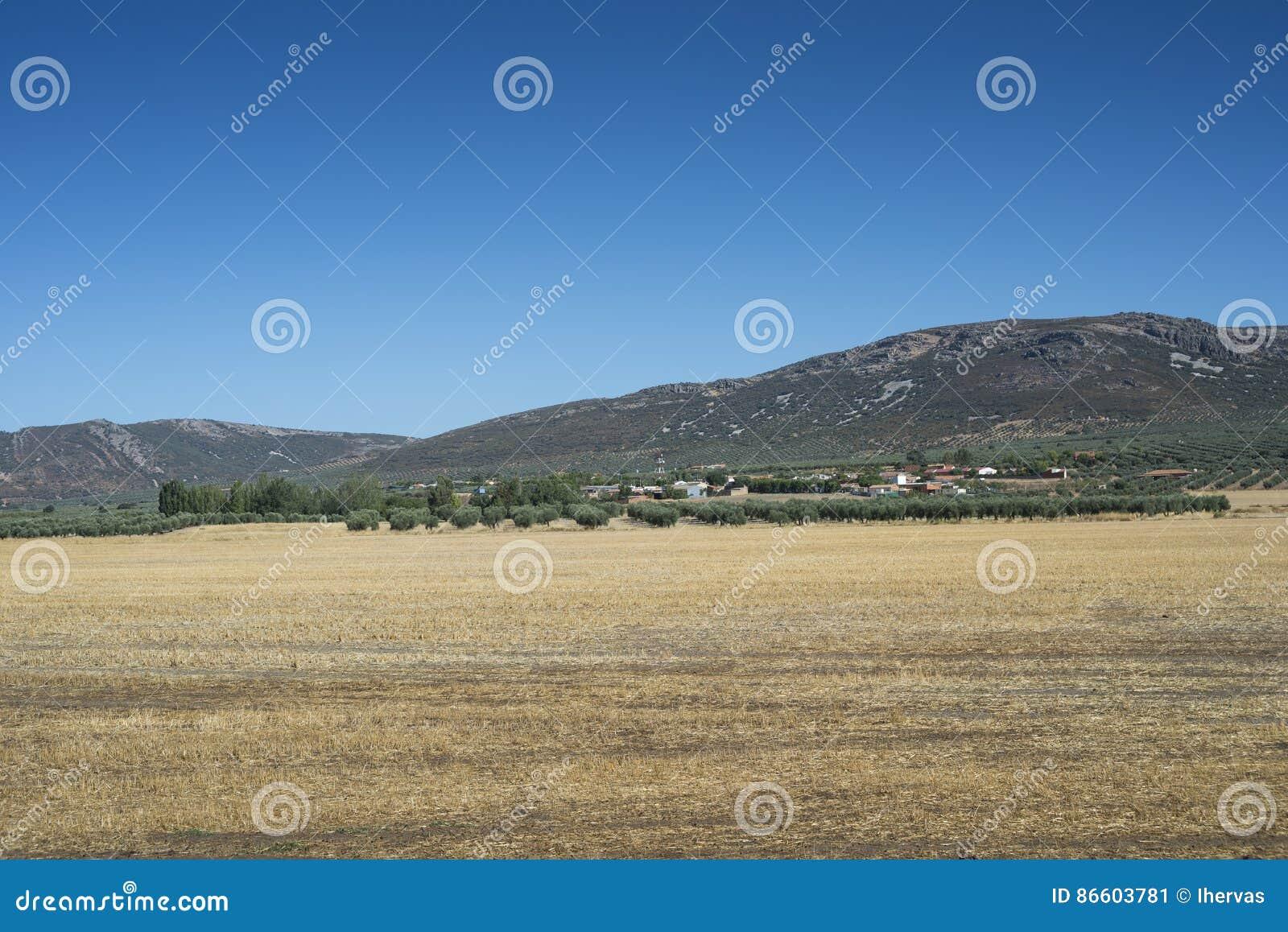 Μικρό χωριουδάκι στο Λα Mancha, Ισπανία