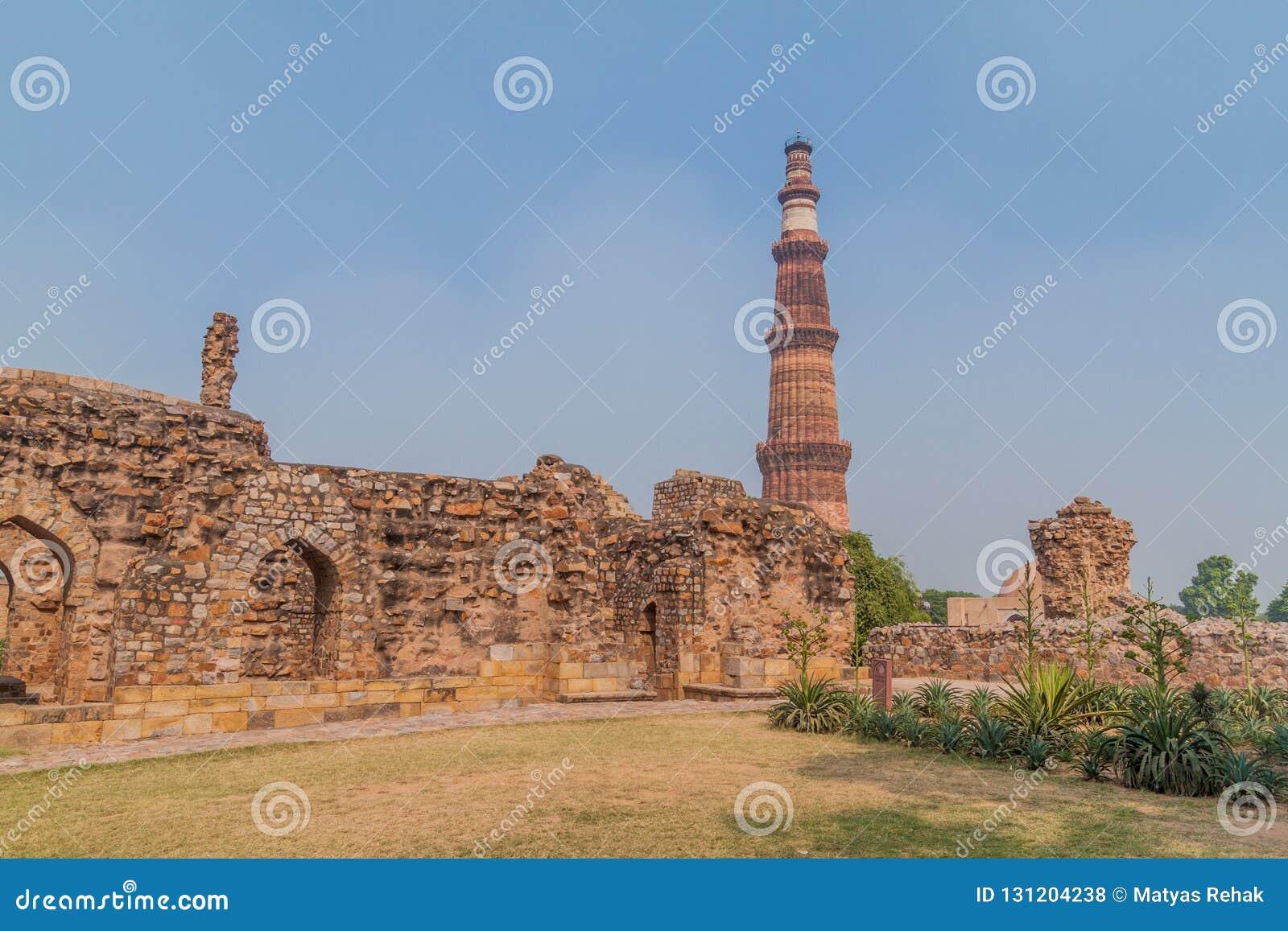 Μιναρές Minar Qutub στο Δελχί, Indi
