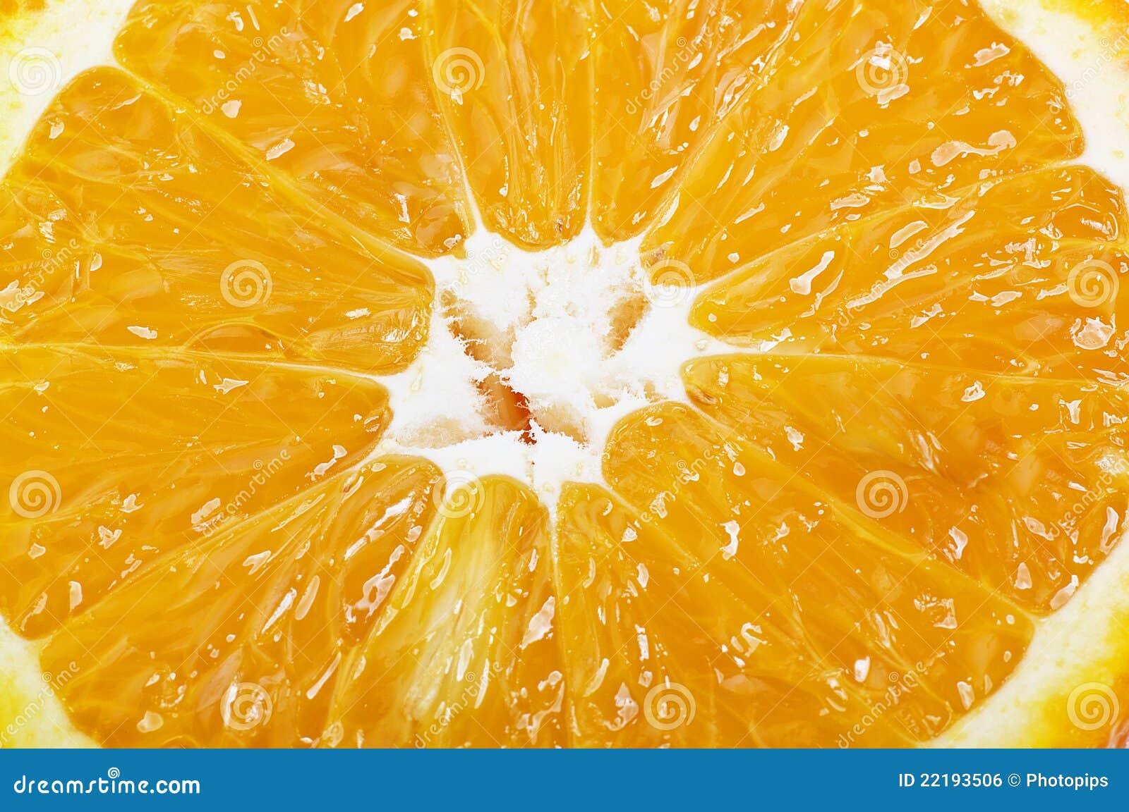 μισή πορτοκαλιά φέτα