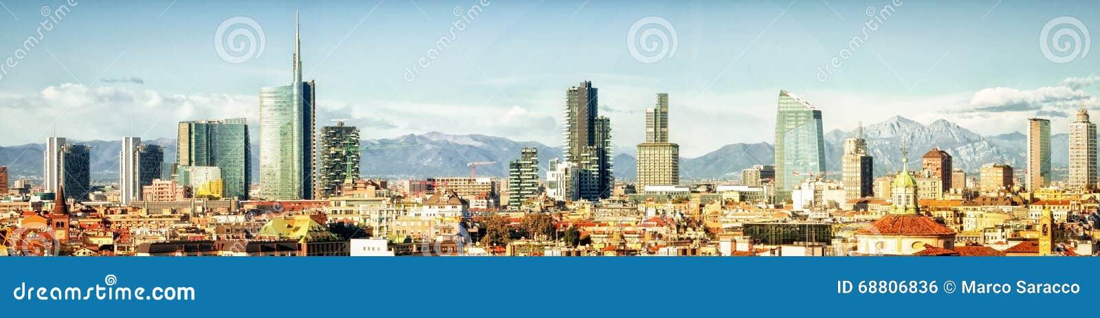 Μιλάνο (Ιταλία), πανοραμικό κολάζ οριζόντων