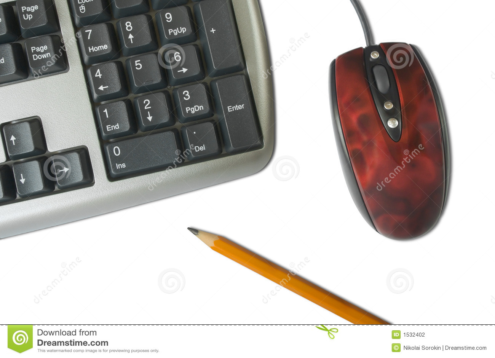 μολύβι ποντικιών πληκτρο&lamb