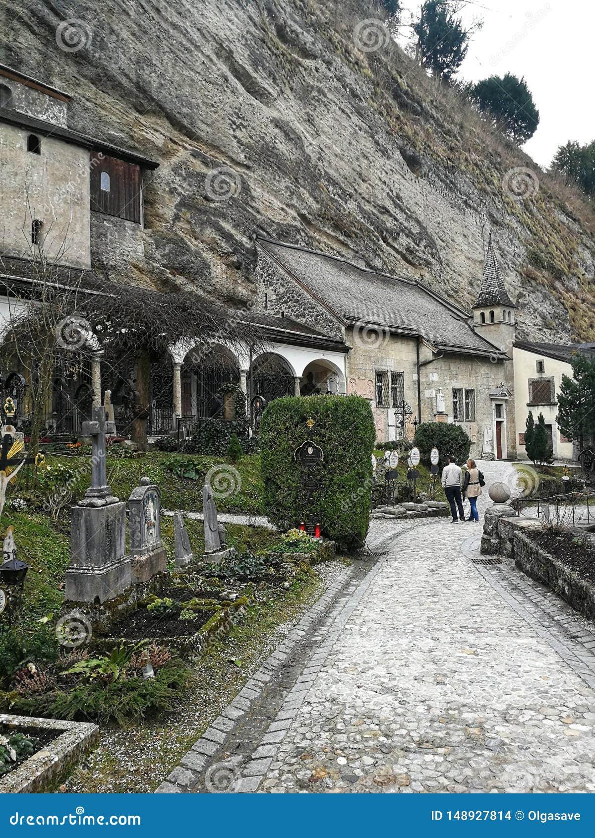 Μοναστήρι και νεκροταφείο του ST Peters στην πόλη του Σάλτζμπουργκ, Αυστρία