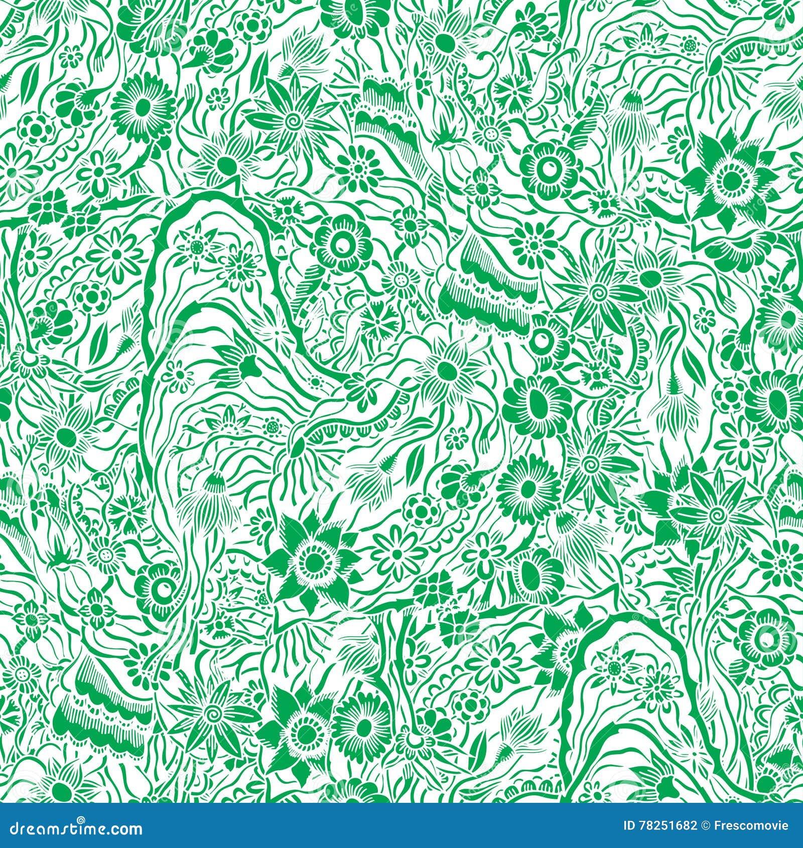 Μονοχρωματικό floral σχέδιο