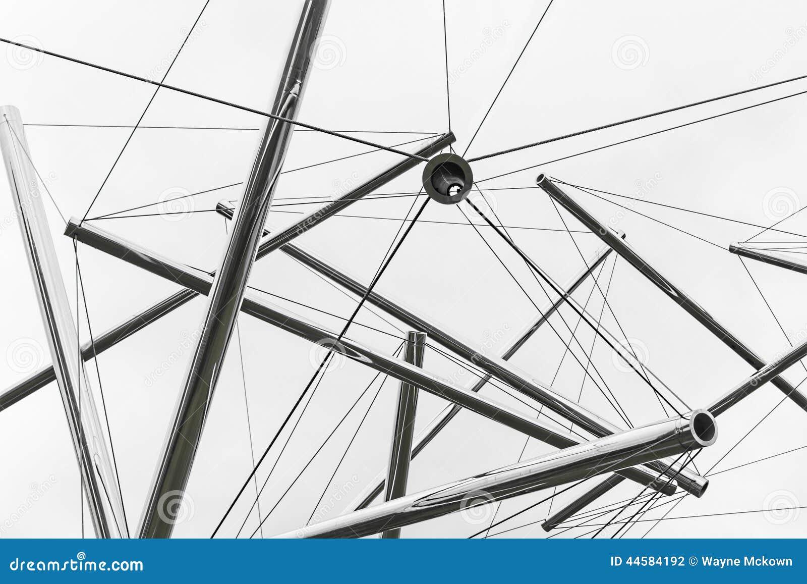 087e51d17a Ελεύθερο επιπλέον αφηρημένο σύγχρονο γλυπτό σωλήνων και καλωδίων ενάντια σε  έναν μπλε ουρανό - που βρίσκεται στη στο κέντρο της πόλης πόλη του Κάνσας