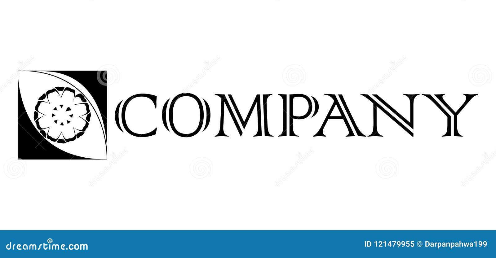 Μοντέρνη διανυσματική απεικόνιση σχεδίου Elegant Square-box Company λογότυπων