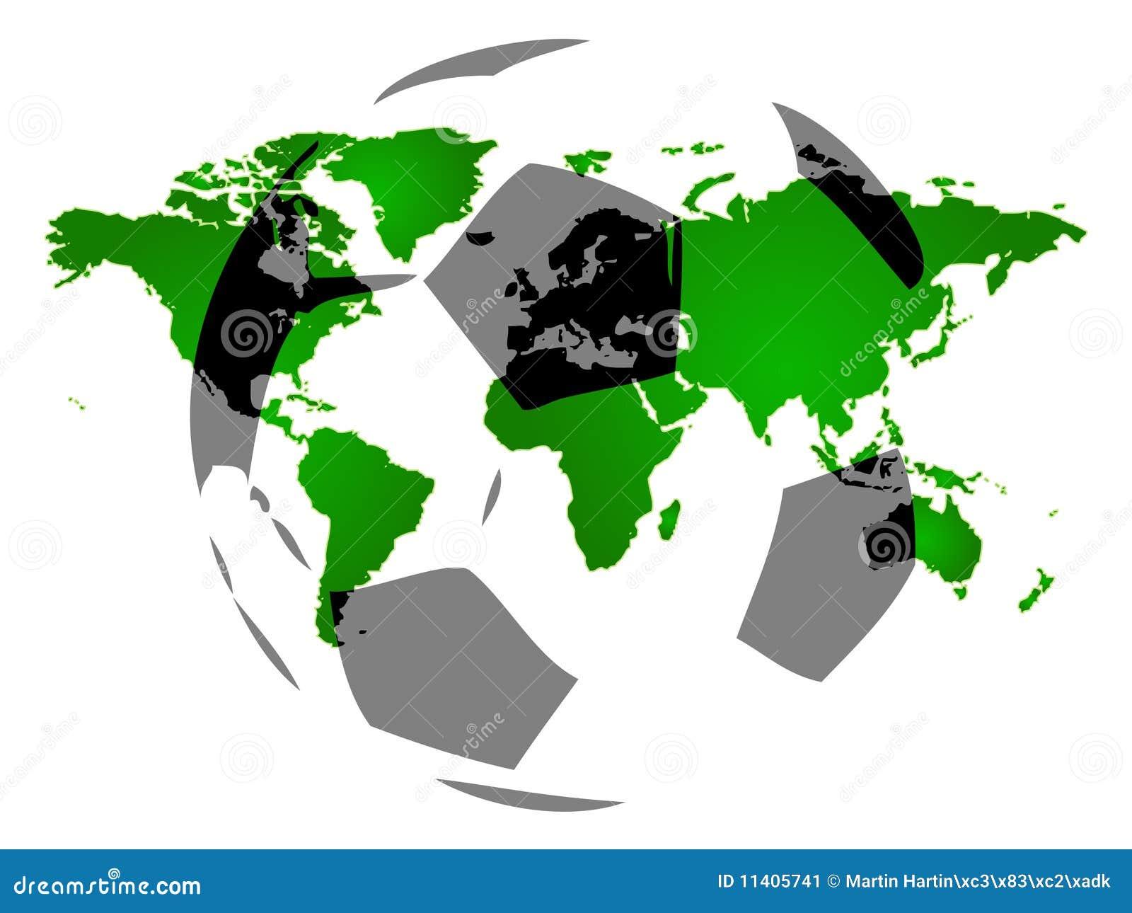 μοντέρνος κόσμος χαρτών πο&d