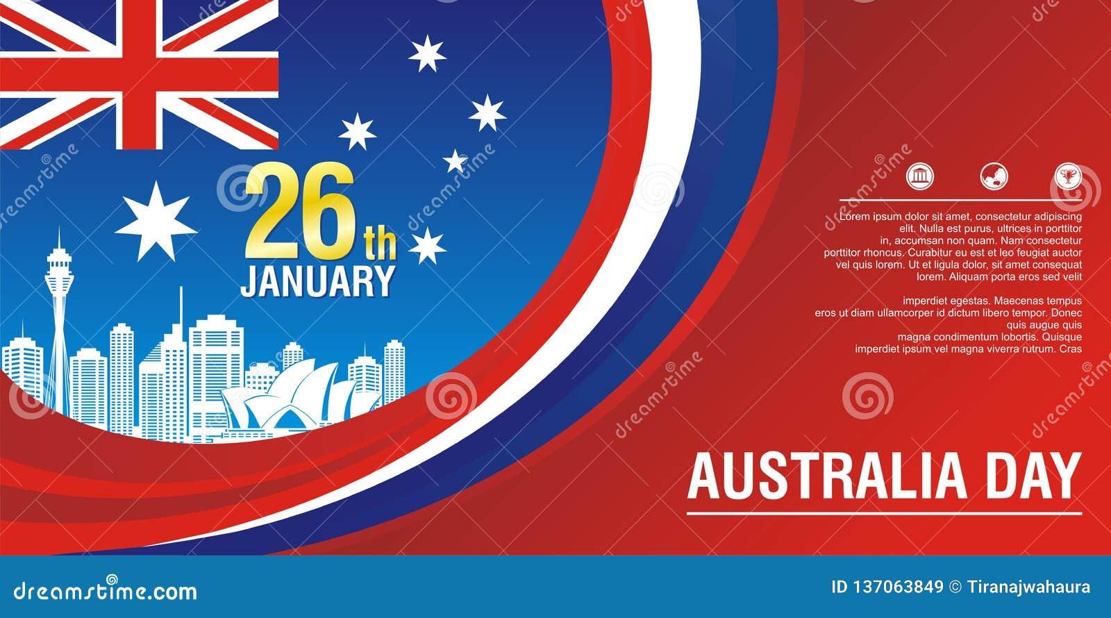 Μοντέρνο ιπτάμενο, με το ύφος σημαιών της Αυστραλίας και το σχέδιο κυμάτων