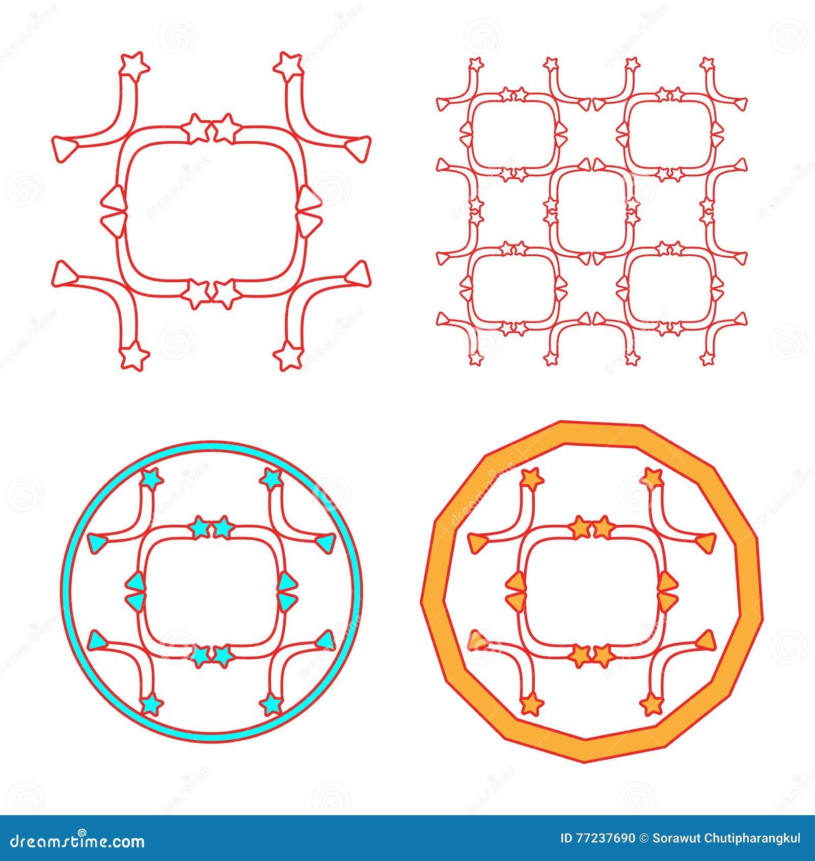 Μονόγραμμα και απλό πλαίσιο σχεδίου κομψότητας