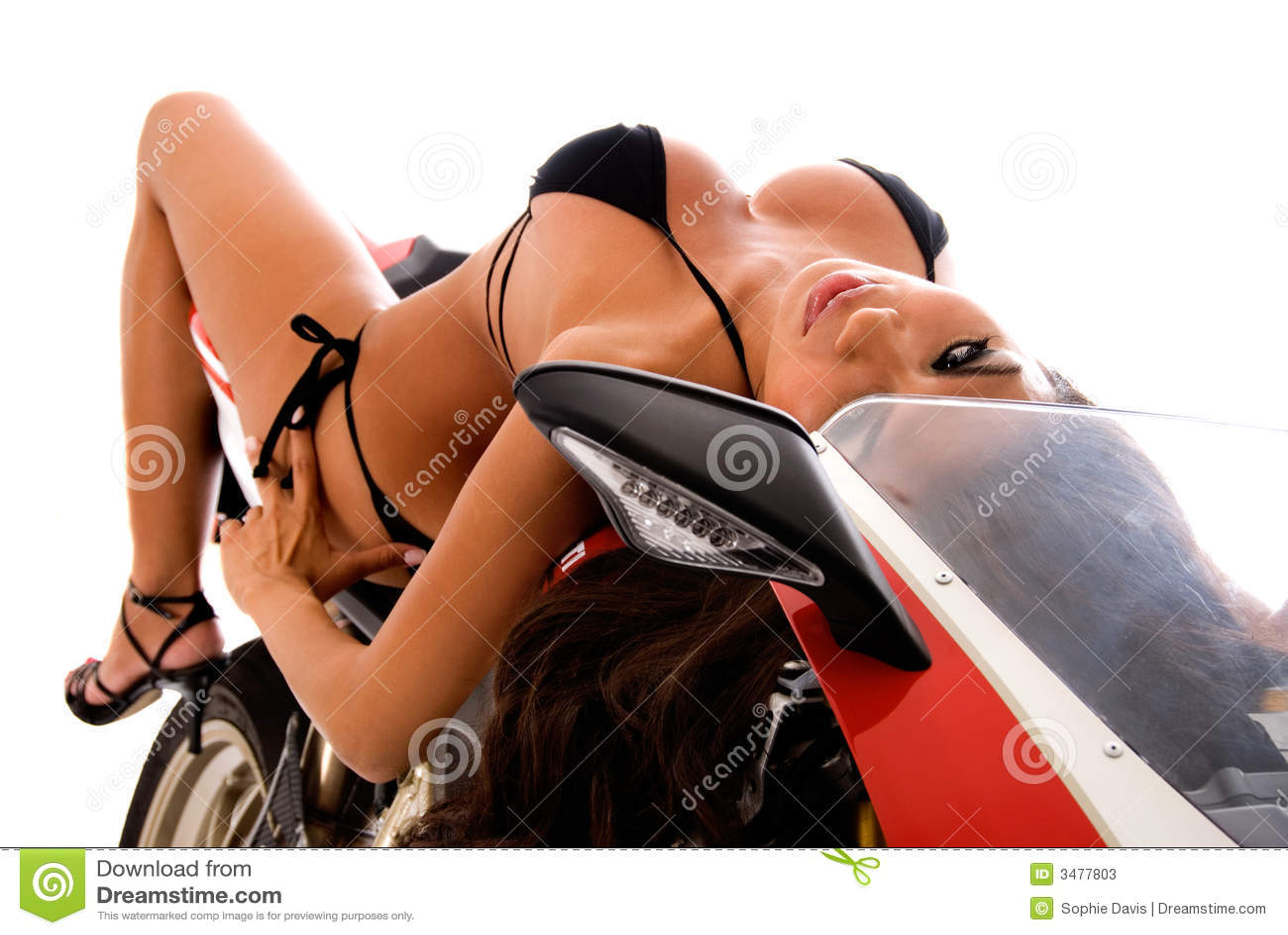 μοτοσικλέτα brunette προκλητική