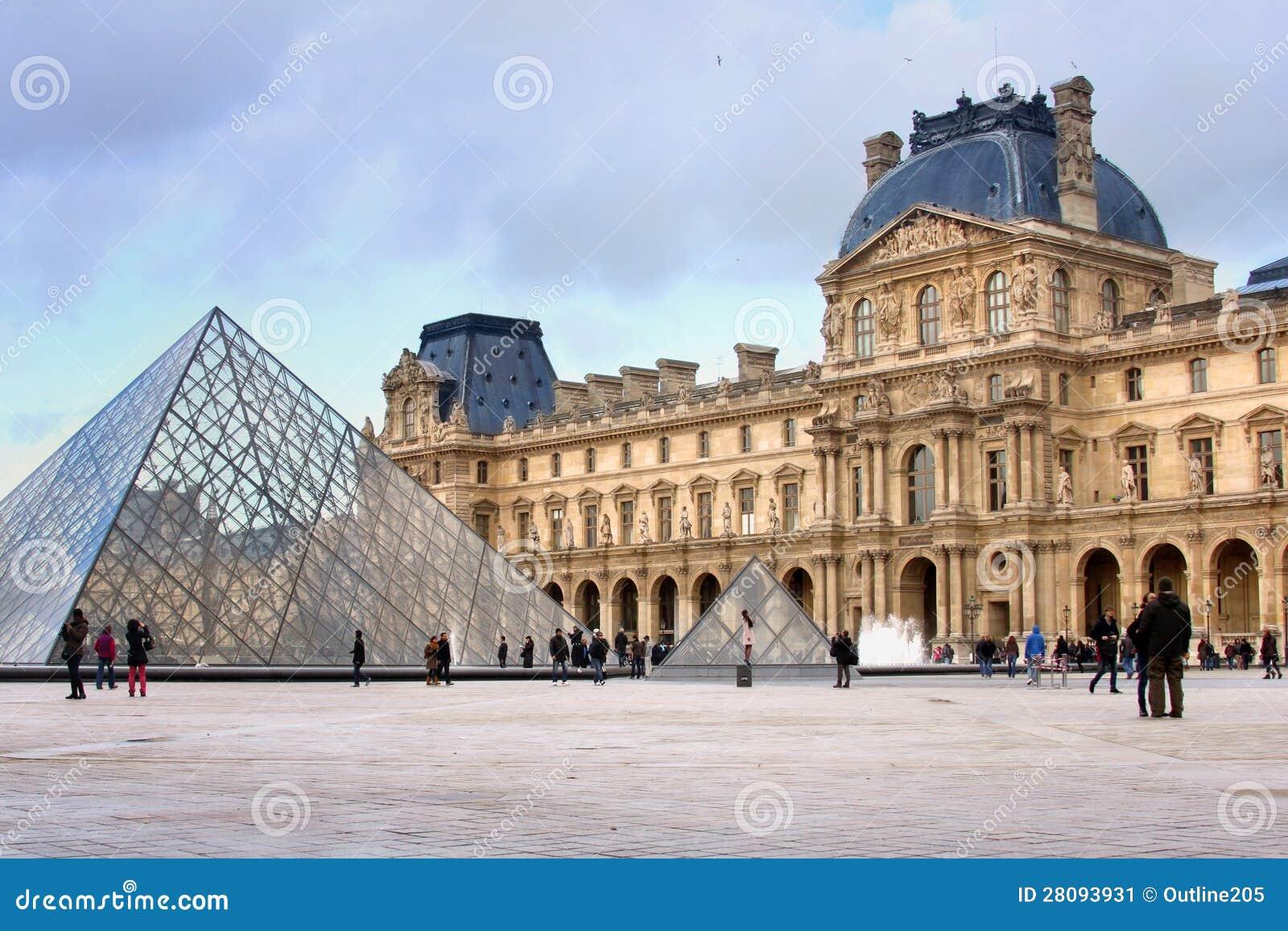 Μουσείο του Λούβρου στο Παρίσι Εκδοτική Εικόνες - εικόνα από louvre,  arroyos: 28093931