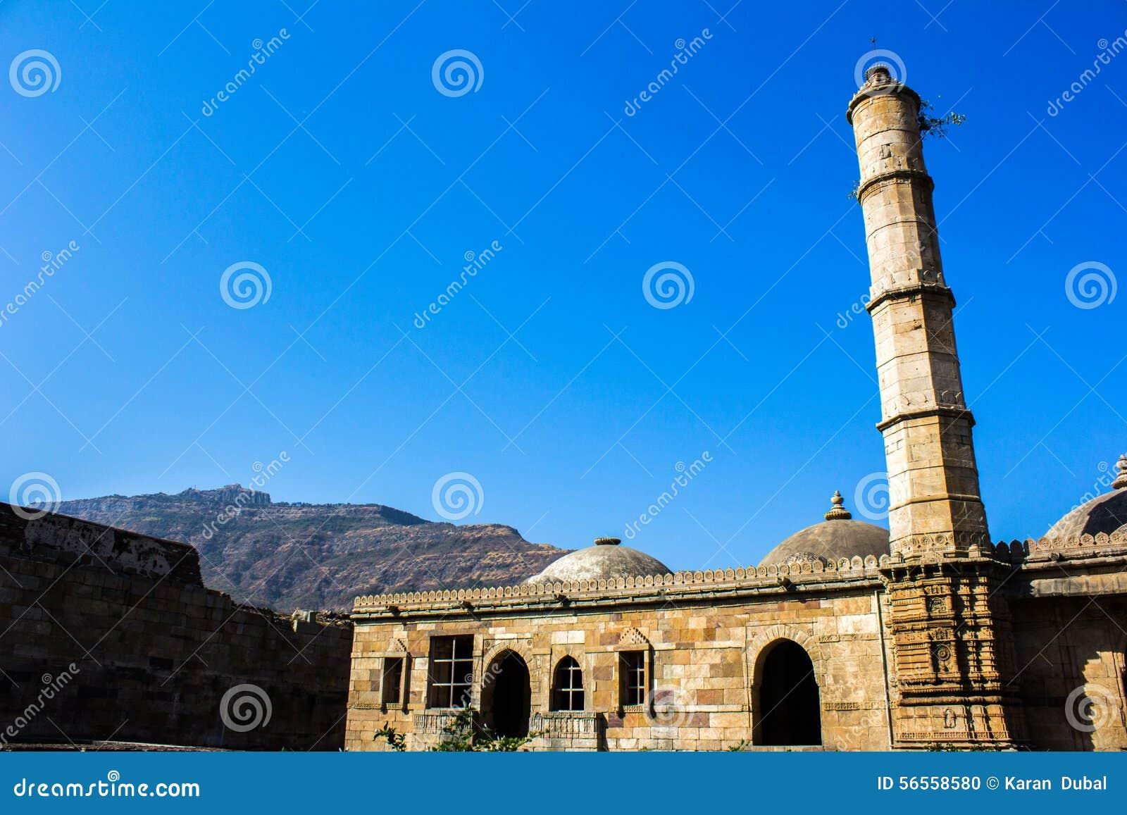 Download Μουσουλμανικό τέμενος Champaner στο Gujarat, Ινδία Στοκ Εικόνες - εικόνα από πρωινός, έξω: 56558580