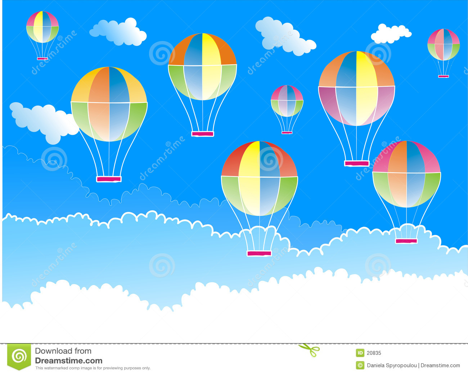 Download μπαλόνια αέρα καυτά απεικόνιση αποθεμάτων. εικονογραφία από χρώματα - 20835
