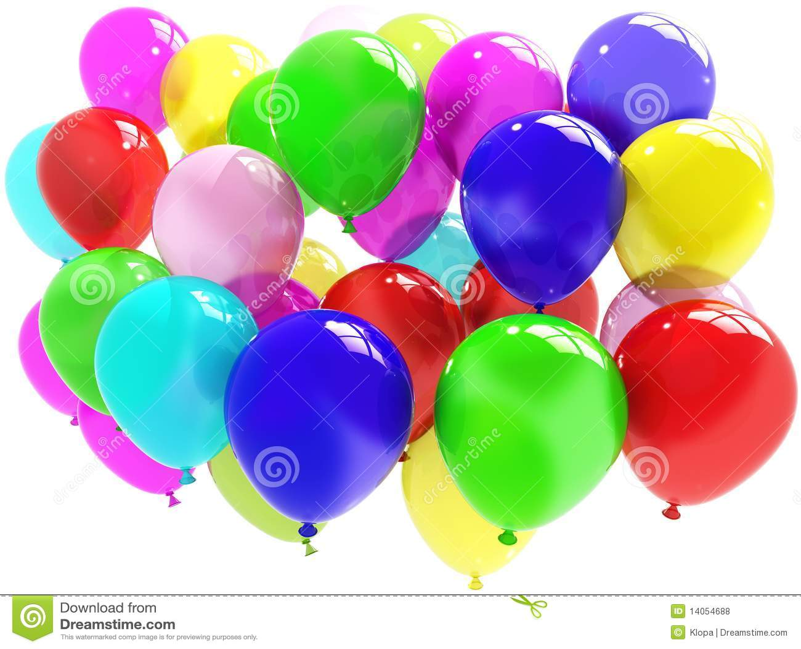 μπαλόνια ζωηρόχρωμα