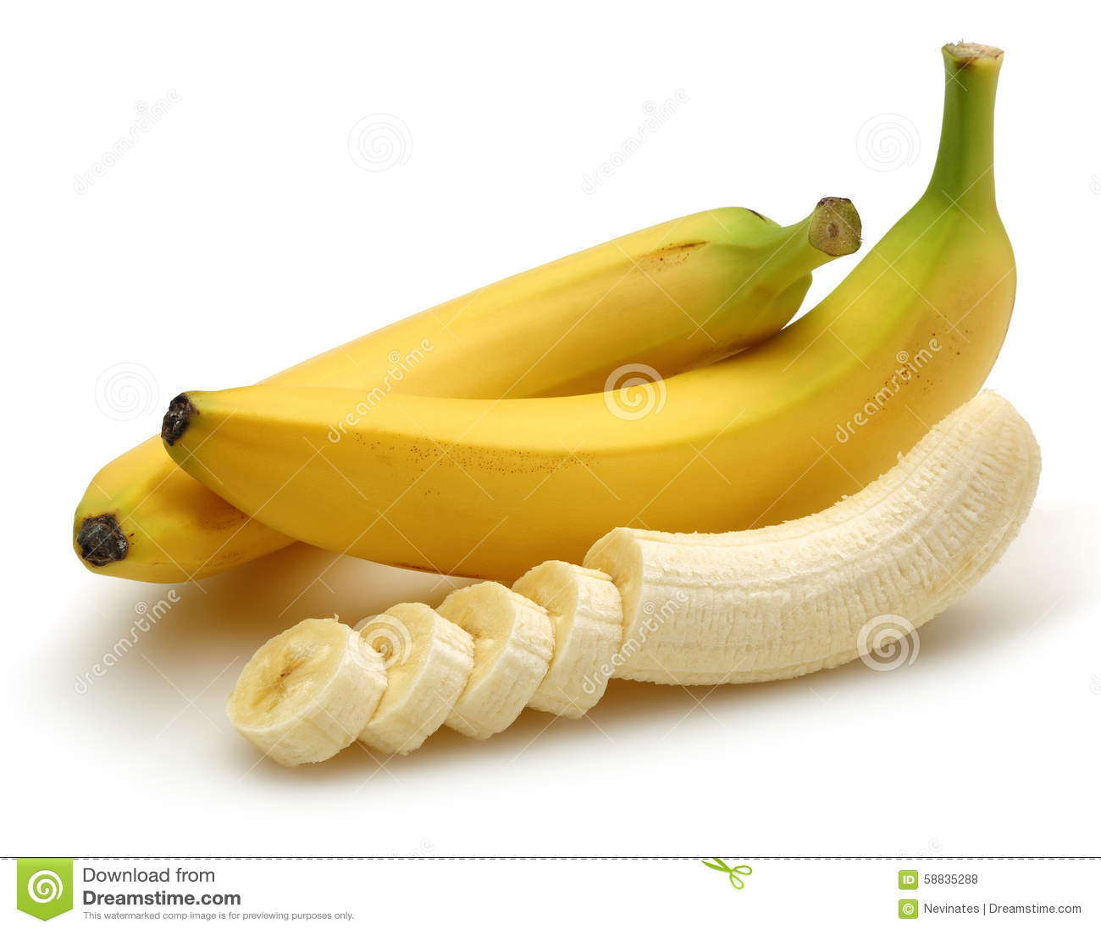 μπανάνα που τεμαχίζεται
