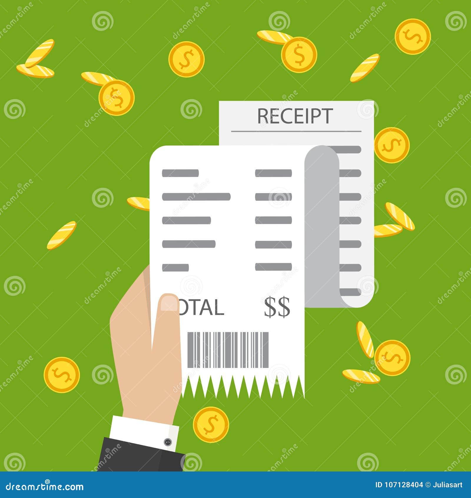 Μπιλ ATM, οικονομικός έλεγχος Εικονίδιο παραλαβών εγγράφου Παραλαβή ι