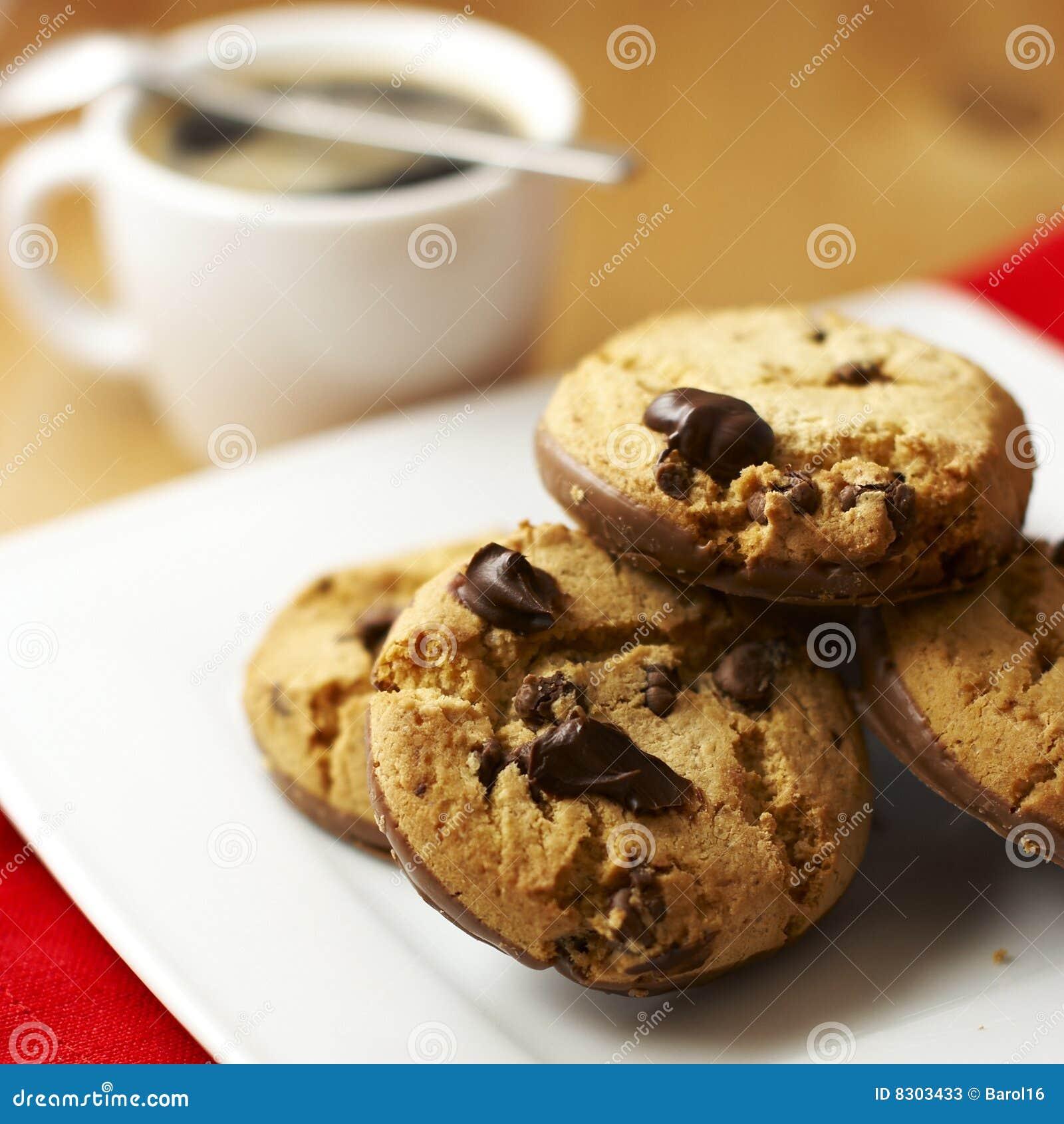 μπισκότα καφέ σοκολάτας