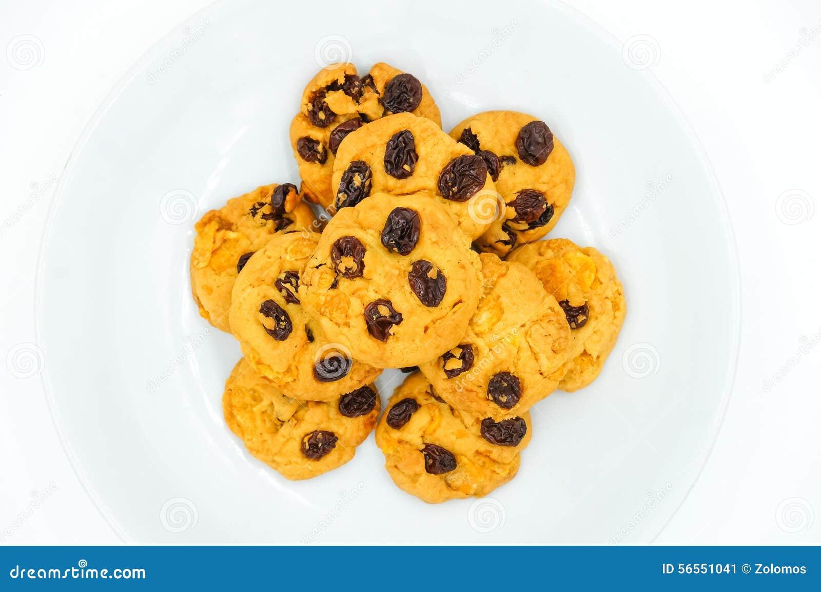 Download Μπισκότα σταφίδων και δημητριακών Στοκ Εικόνα - εικόνα από σταφίδα, εύγευστος: 56551041