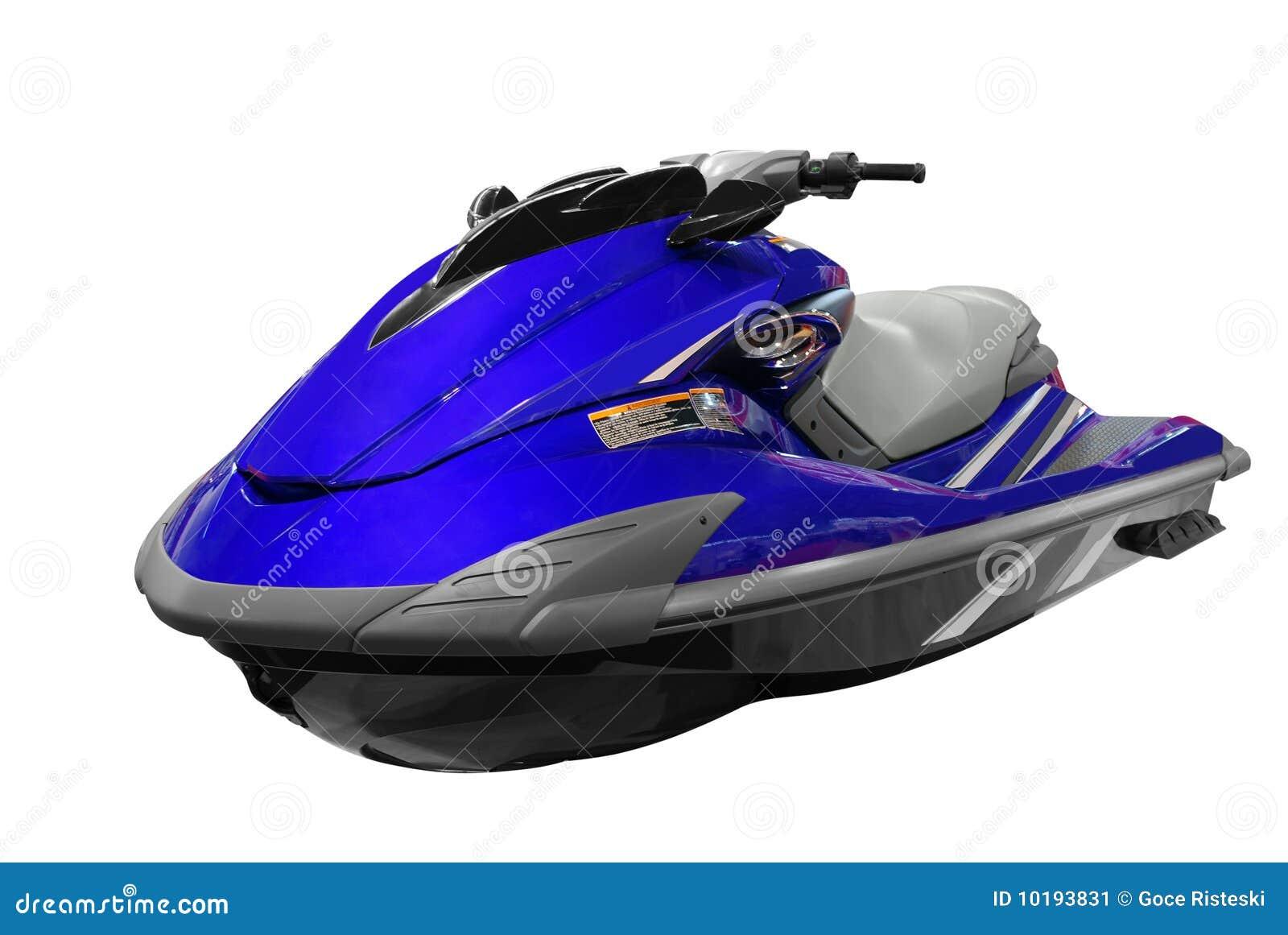 μπλε αεριωθούμενο σκι