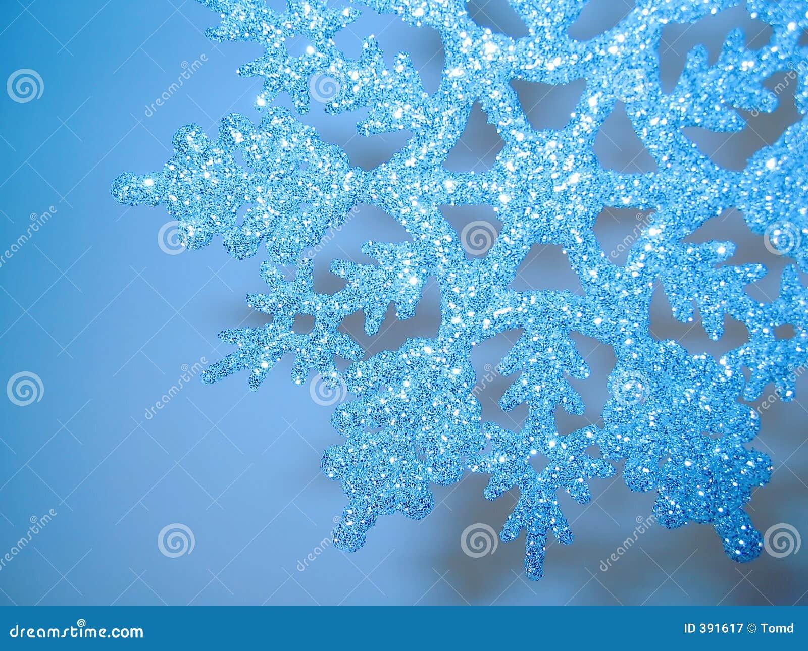 μπλε ακτινοβολώντας snowflake