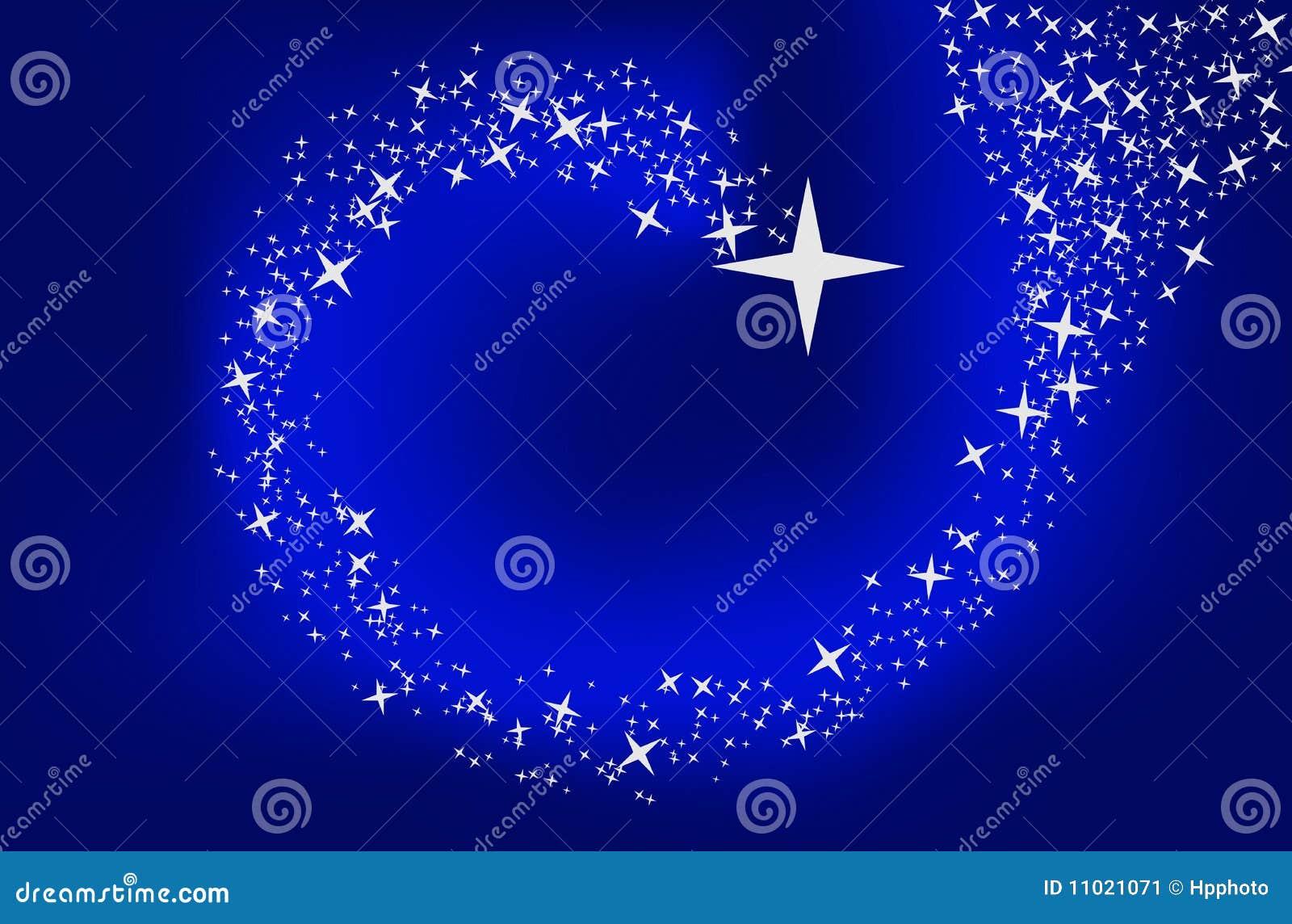 Μπλε ανασκόπηση με τα αστέρια