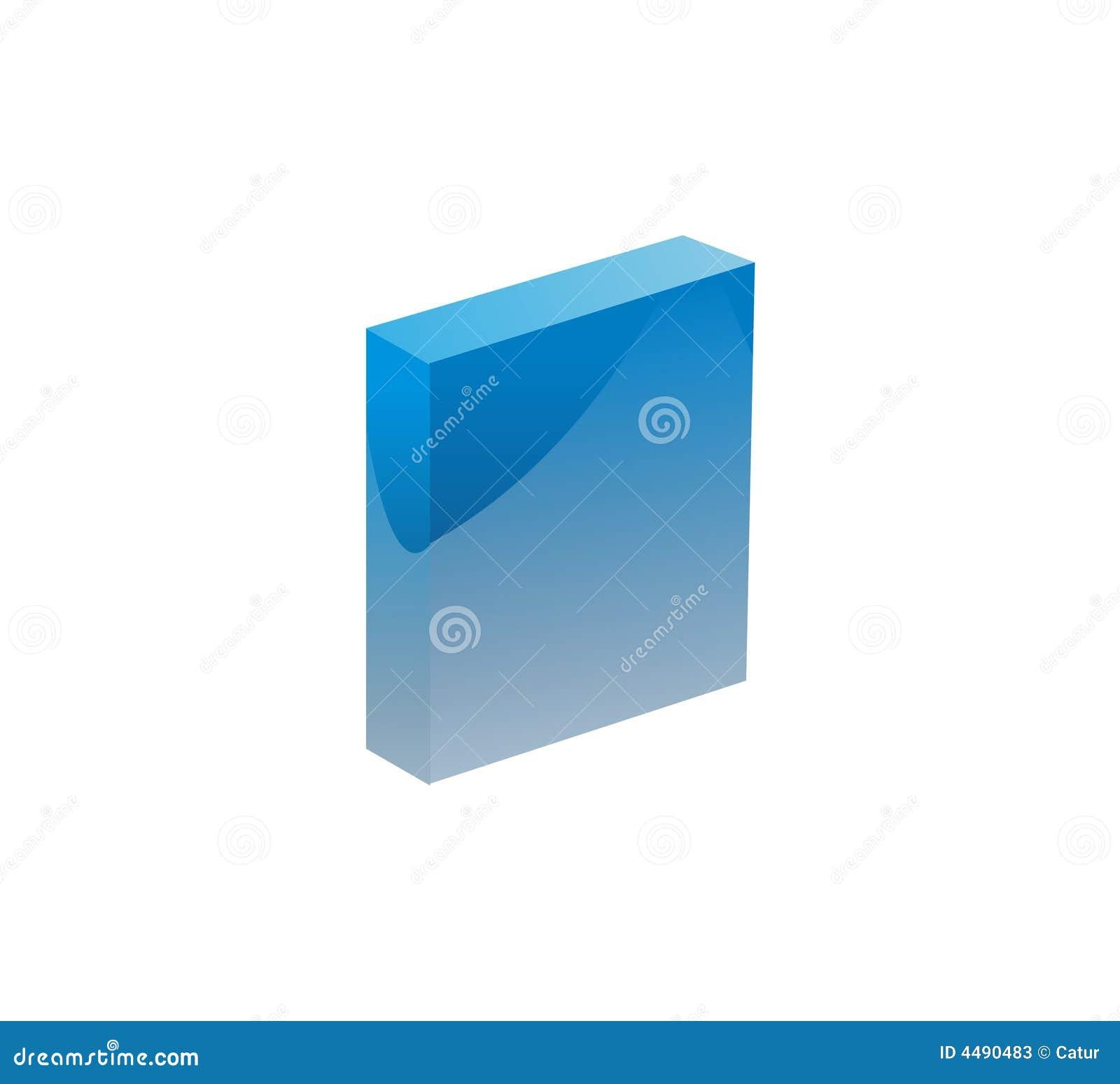 μπλε αντικείμενο κιβωτίω