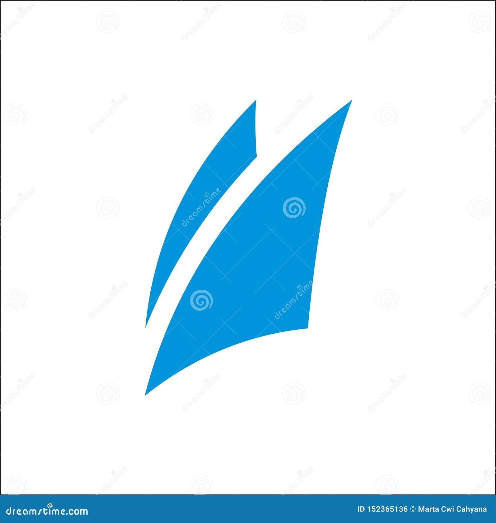 Μπλε αφηρημένο διανυσματικό πρότυπο εικονιδίων λογότυπων πανιών