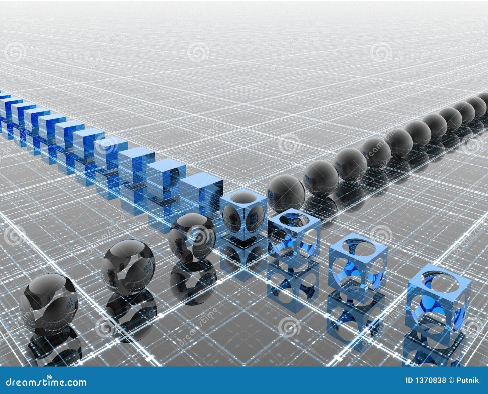 μπλε βιομηχανική γραμμή
