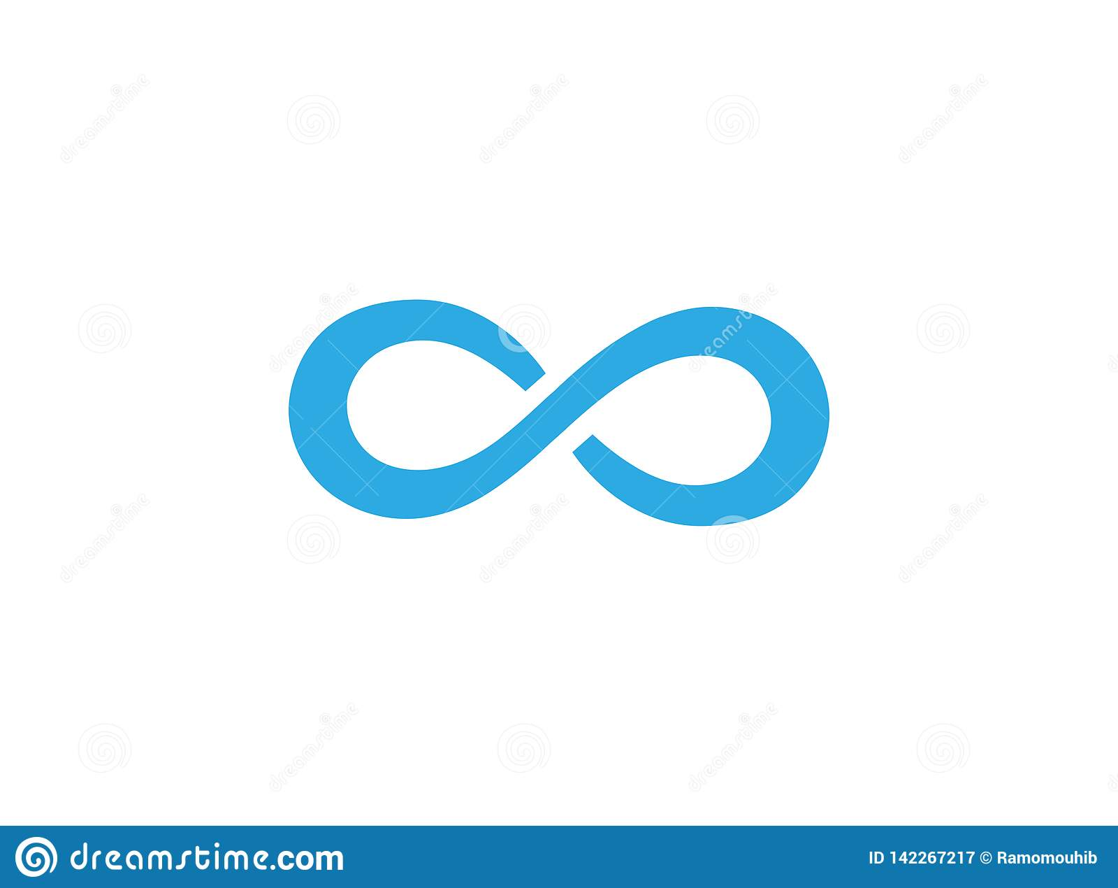 Μπλε δρόμος με πολλ ες στροφές για την απεικόνιση σχεδίου λογότυπων