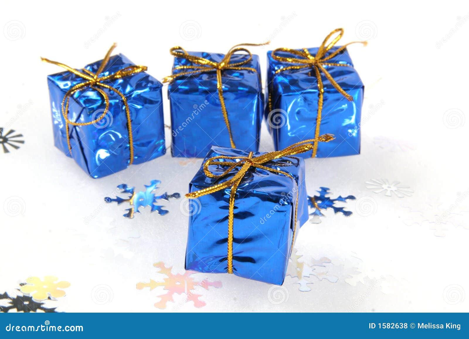 μπλε δώρα Χριστουγέννων μ&iota