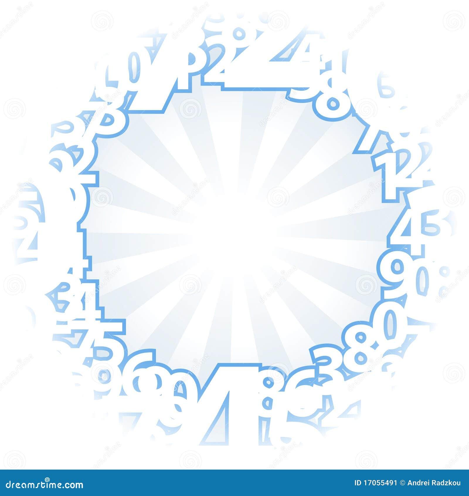 μπλε ελαφριοί αριθμοί αν&a