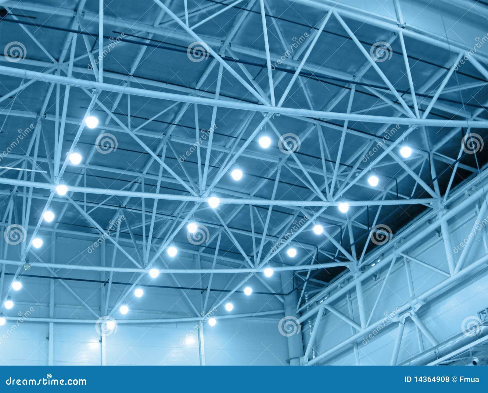 μπλε εσωτερικός φωτισμός αποθηκών εμπορευμάτων