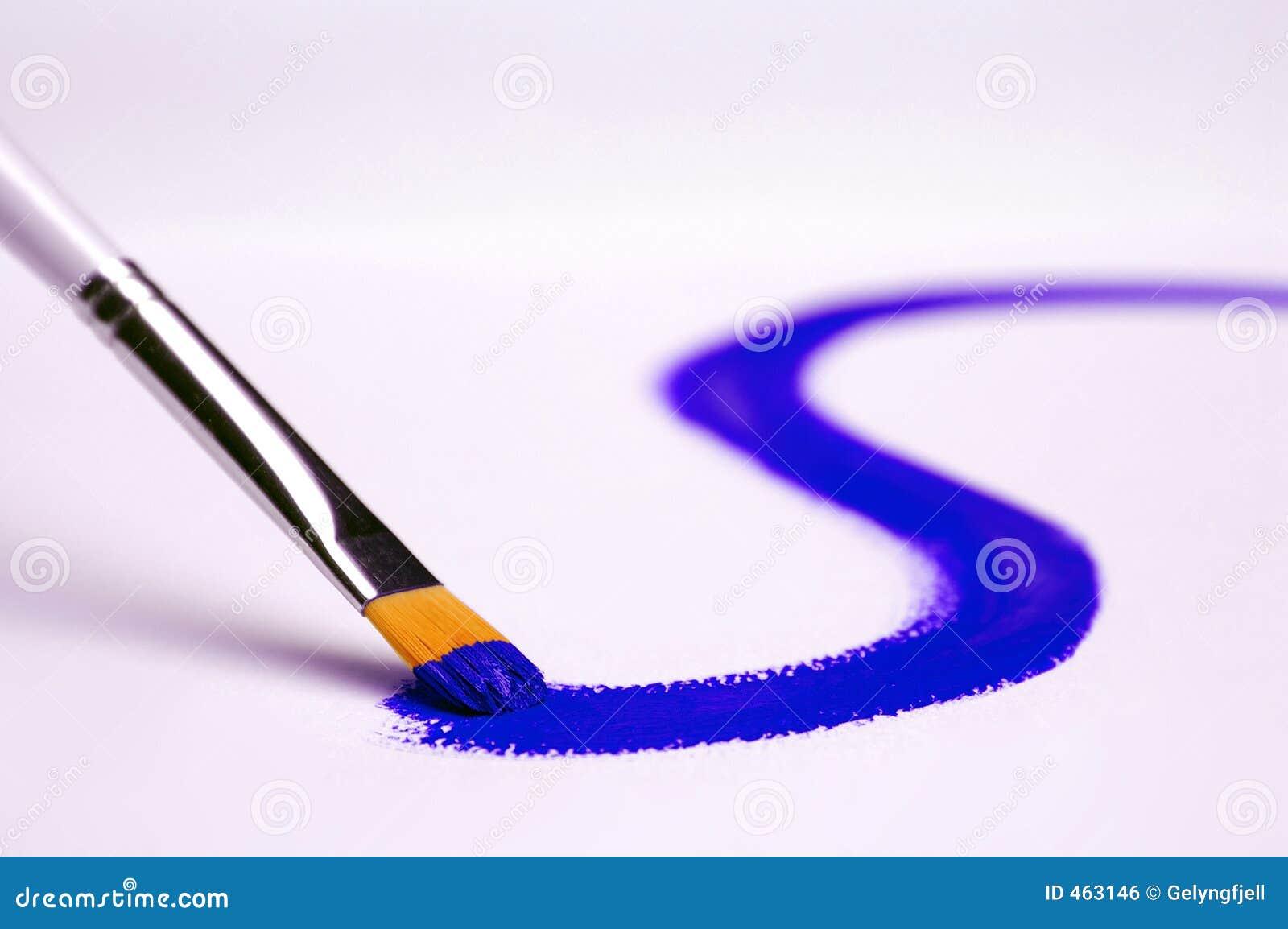 μπλε ζωγραφική