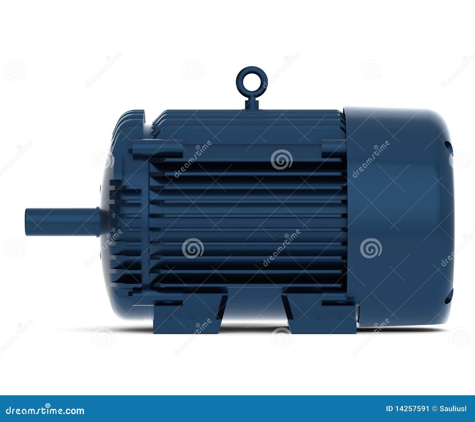 μπλε ηλεκτρική μηχανή που