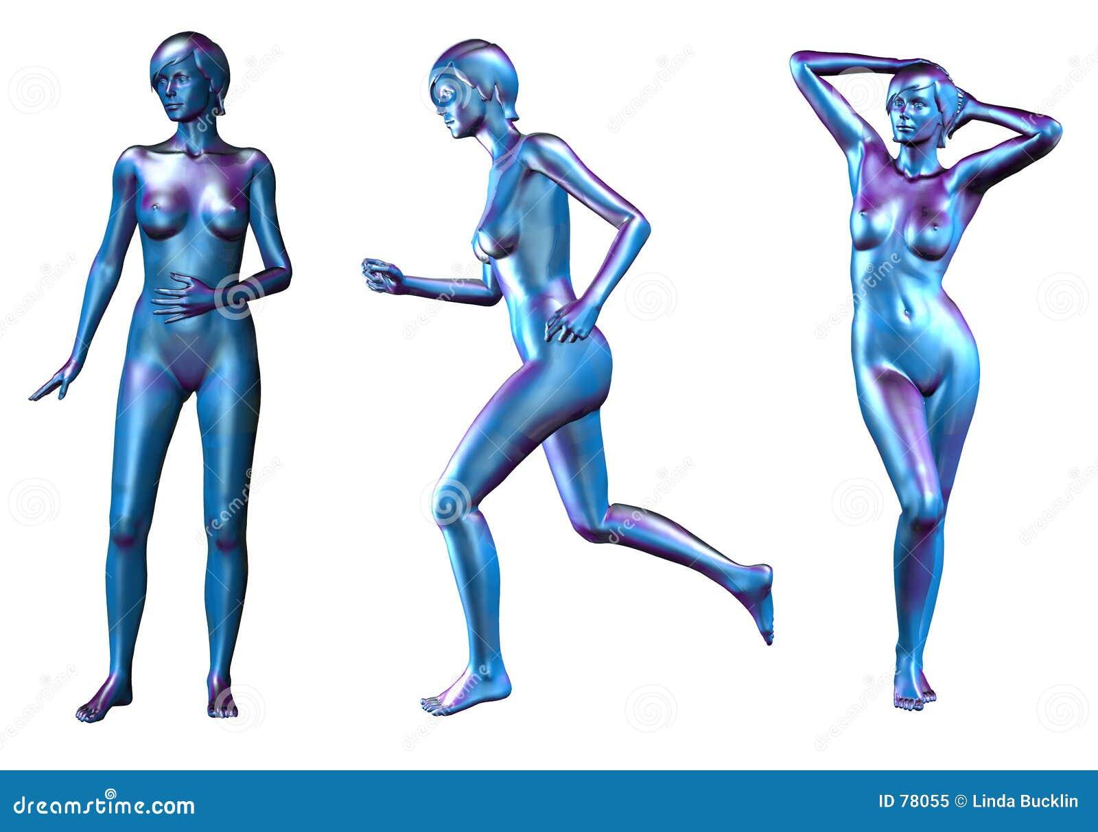 μπλε θηλυκά μεταλλικά nude τ