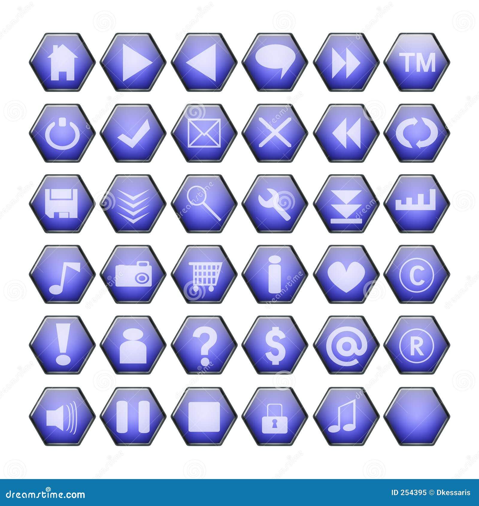 μπλε Ιστός κουμπιών
