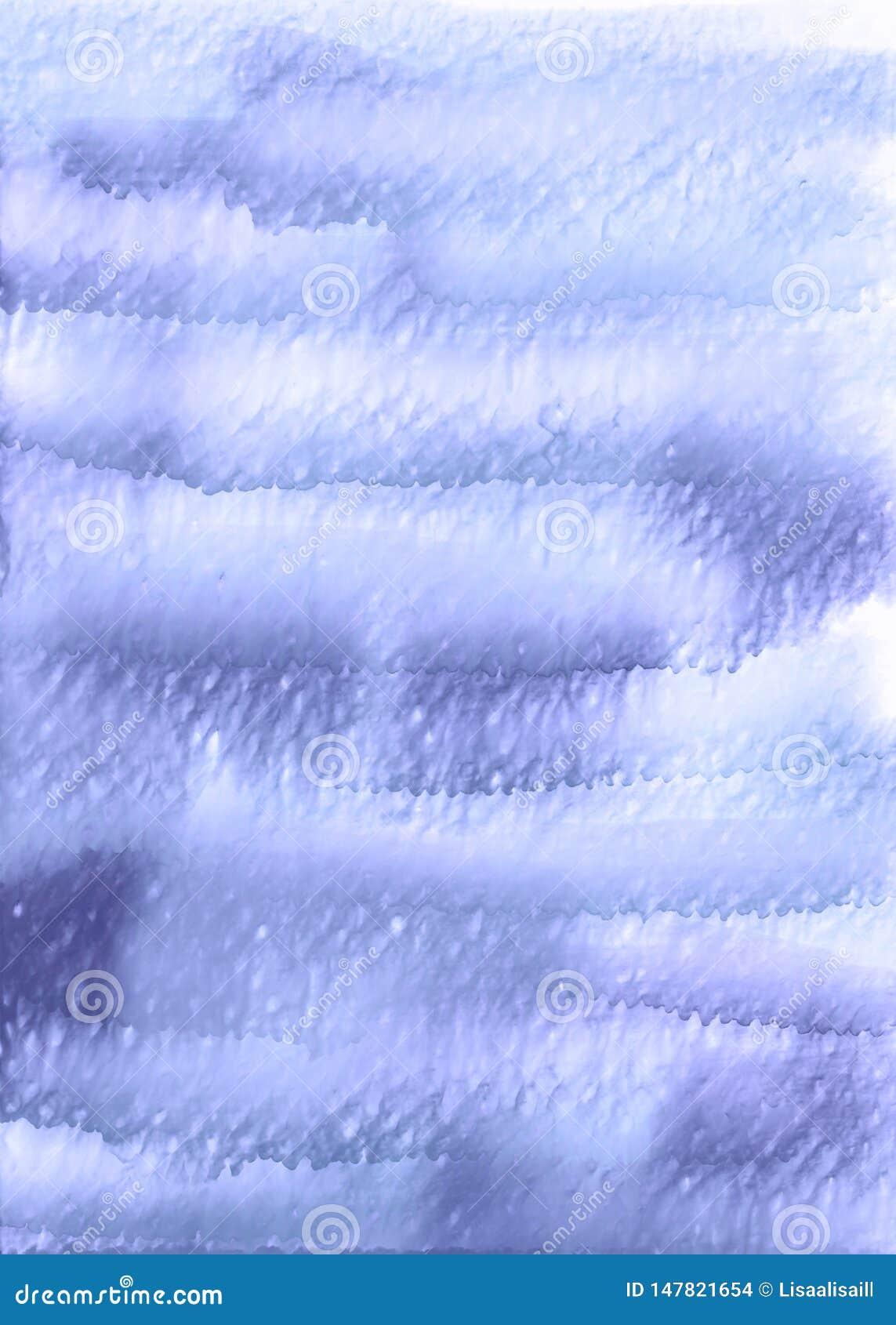 Μπλε κάθετο υπόβαθρο watercolor Το χέρι σύρει το σκηνικό watercolor με το ρέοντας χρώμα και το νερό