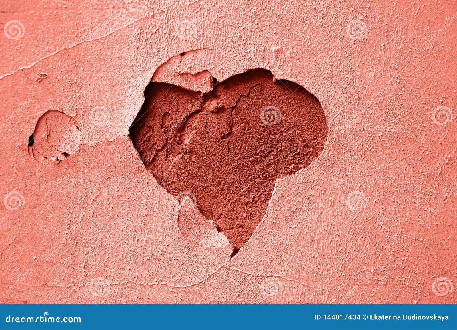 Μπλε καρδιά ασβεστοκονιάματος υποβάθρου