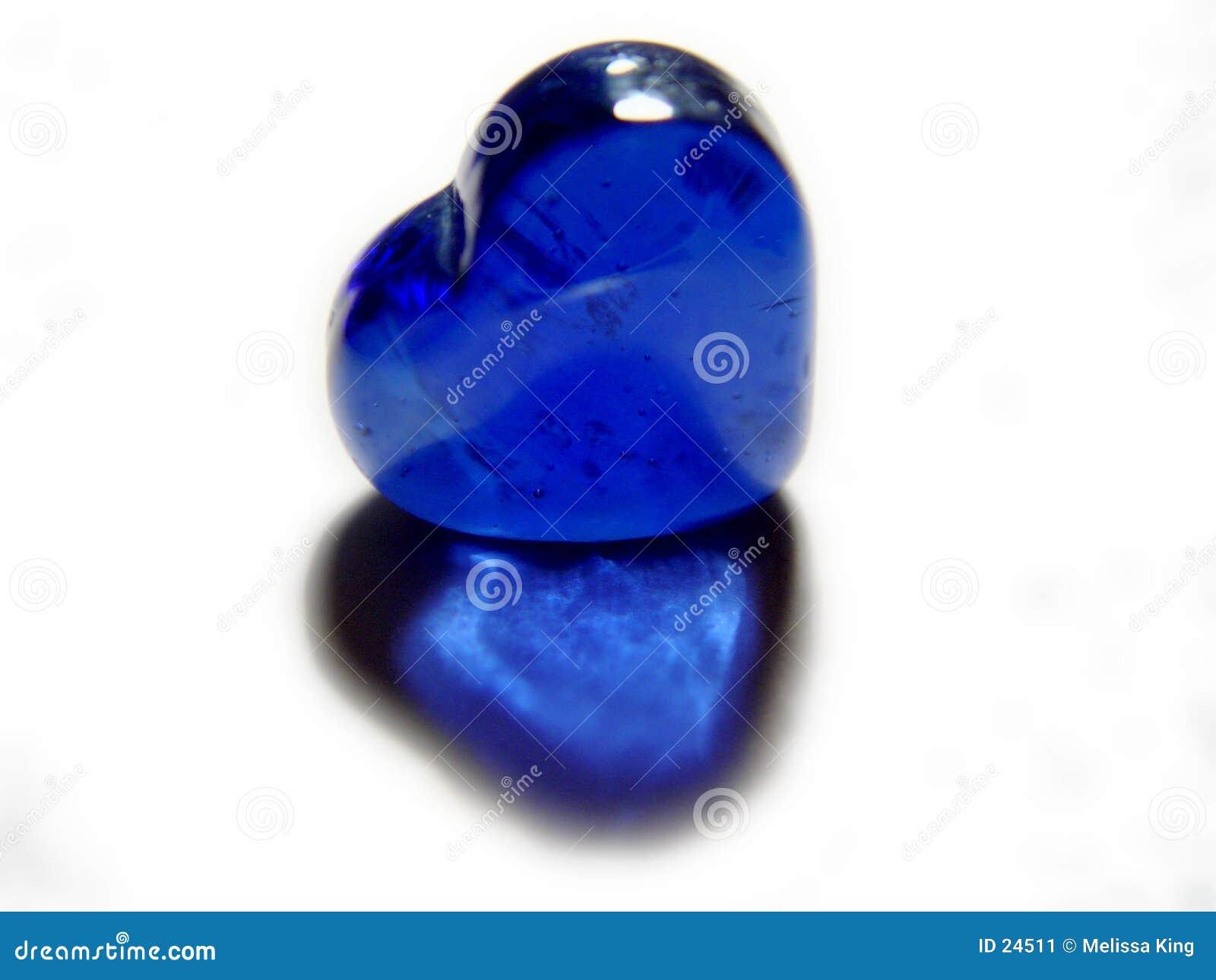 μπλε καρδιά γυαλιού