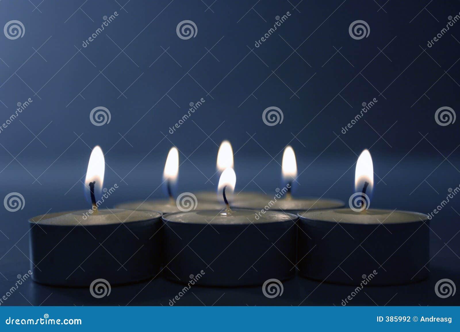 μπλε κεριά