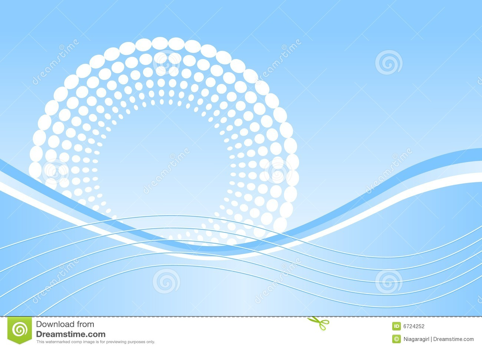 μπλε κύματα σημείων
