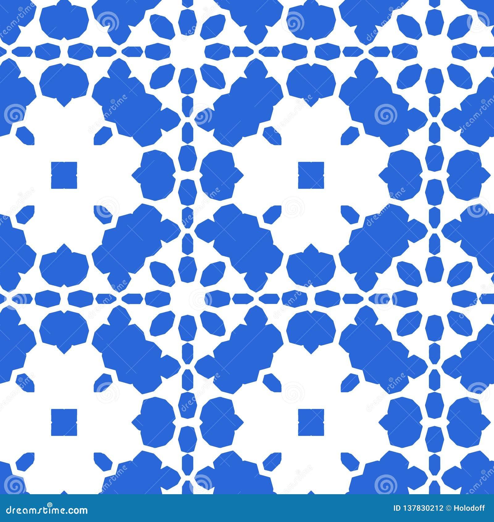Μπλε μαροκινό κεραμίδι - άνευ ραφής διακόσμηση