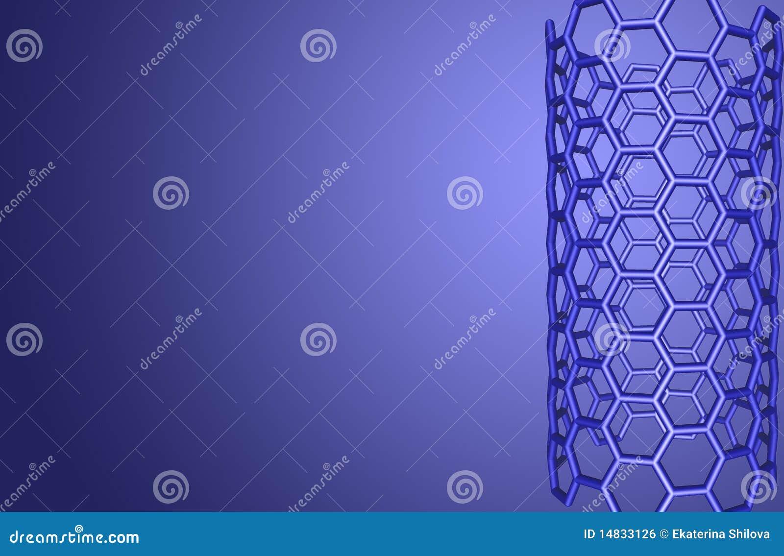μπλε μοριακή δομή nanotube ανασκό