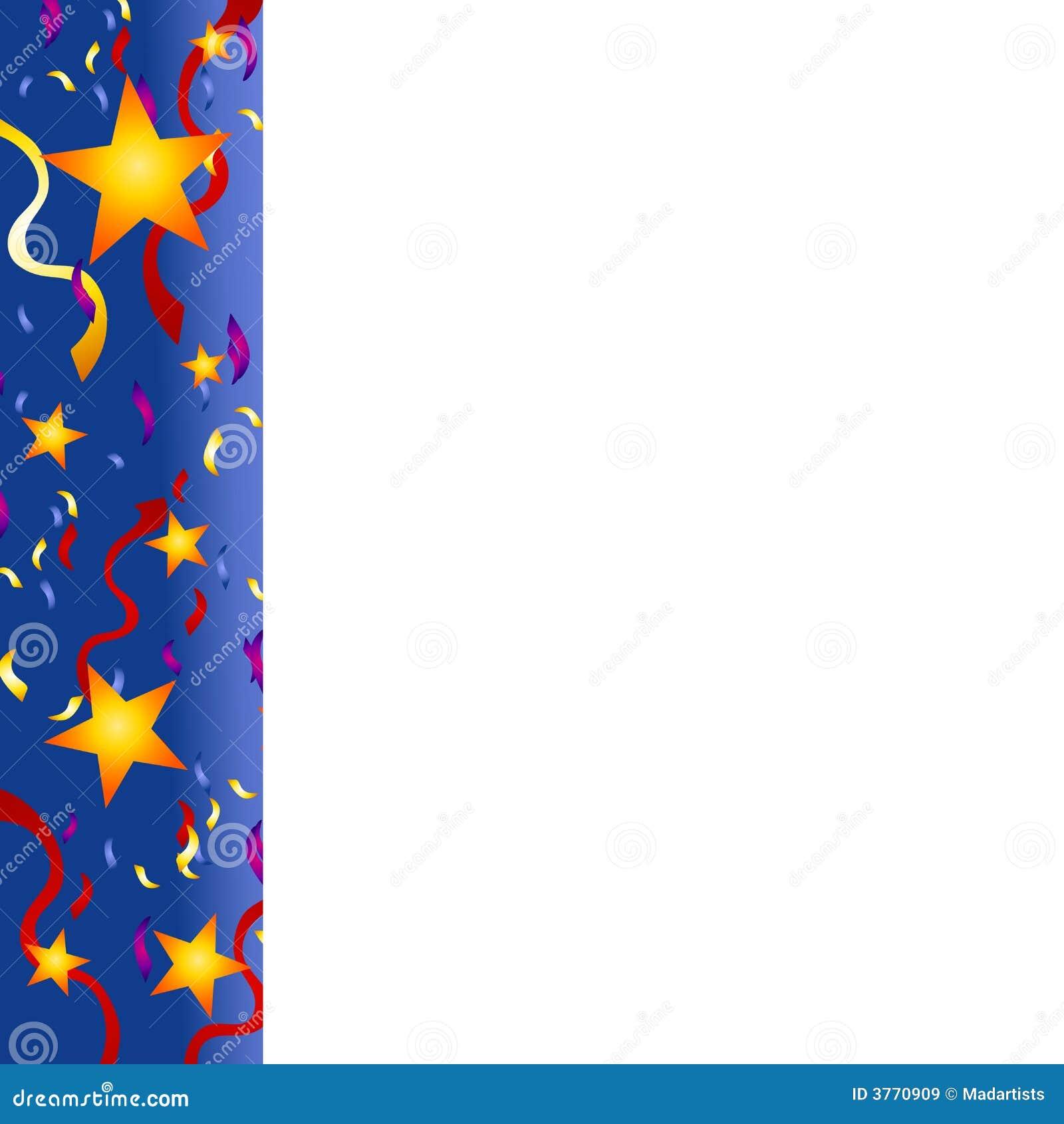 μπλε νέο s κομφετί συνόρων έτος αστεριών παραμονής