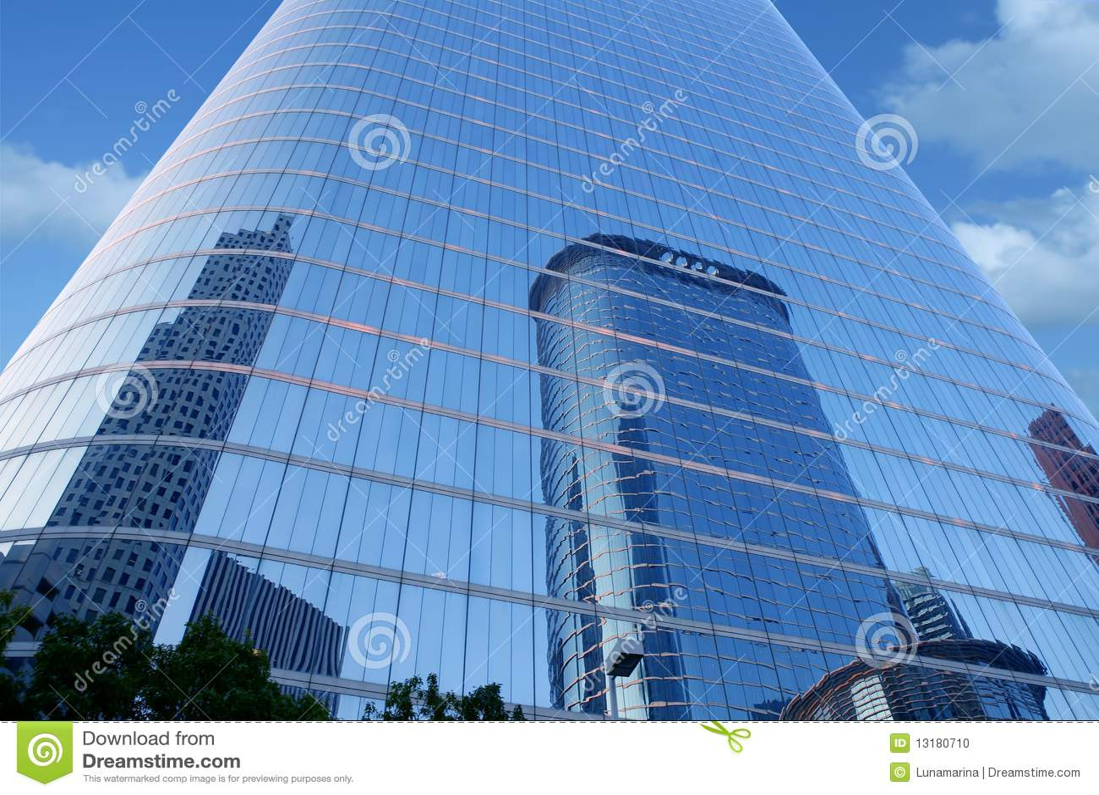 μπλε ουρανοξύστης καθρ&eps