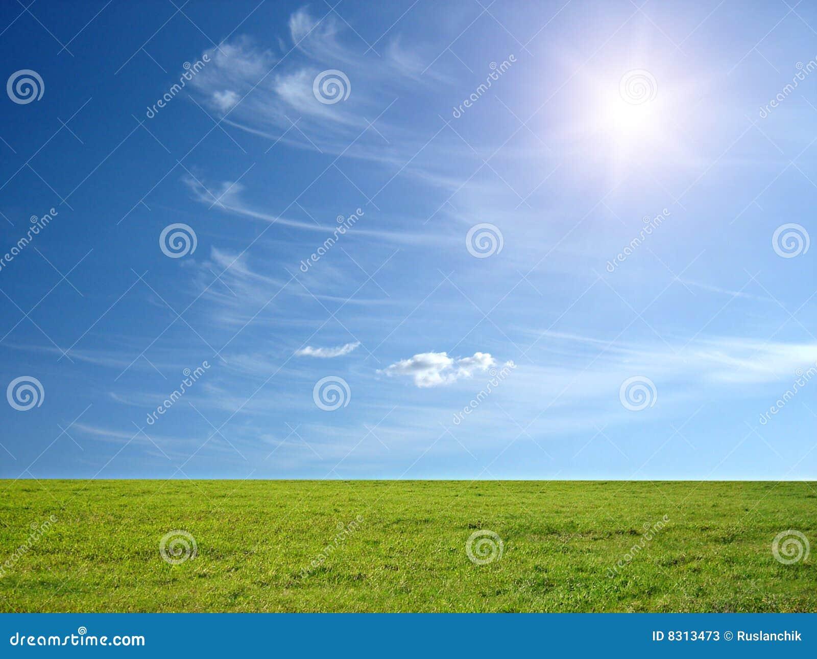 μπλε ουρανός ηλιόλουστ&o