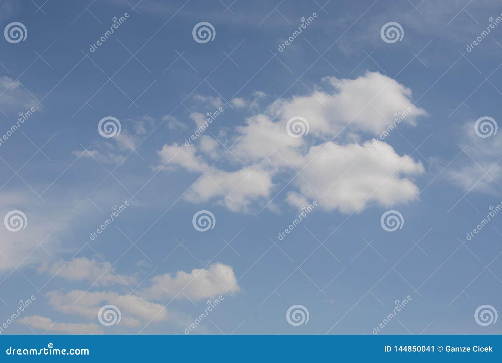 Μπλε ουρανός και σύννεφα