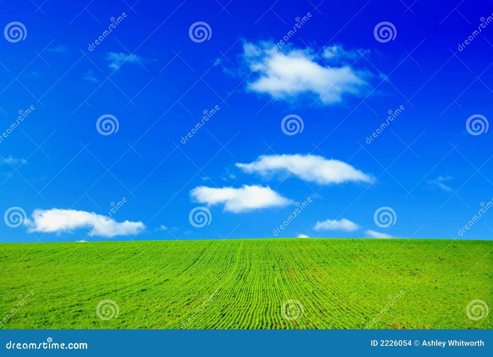 μπλε πράσινος ουρανός πε&d