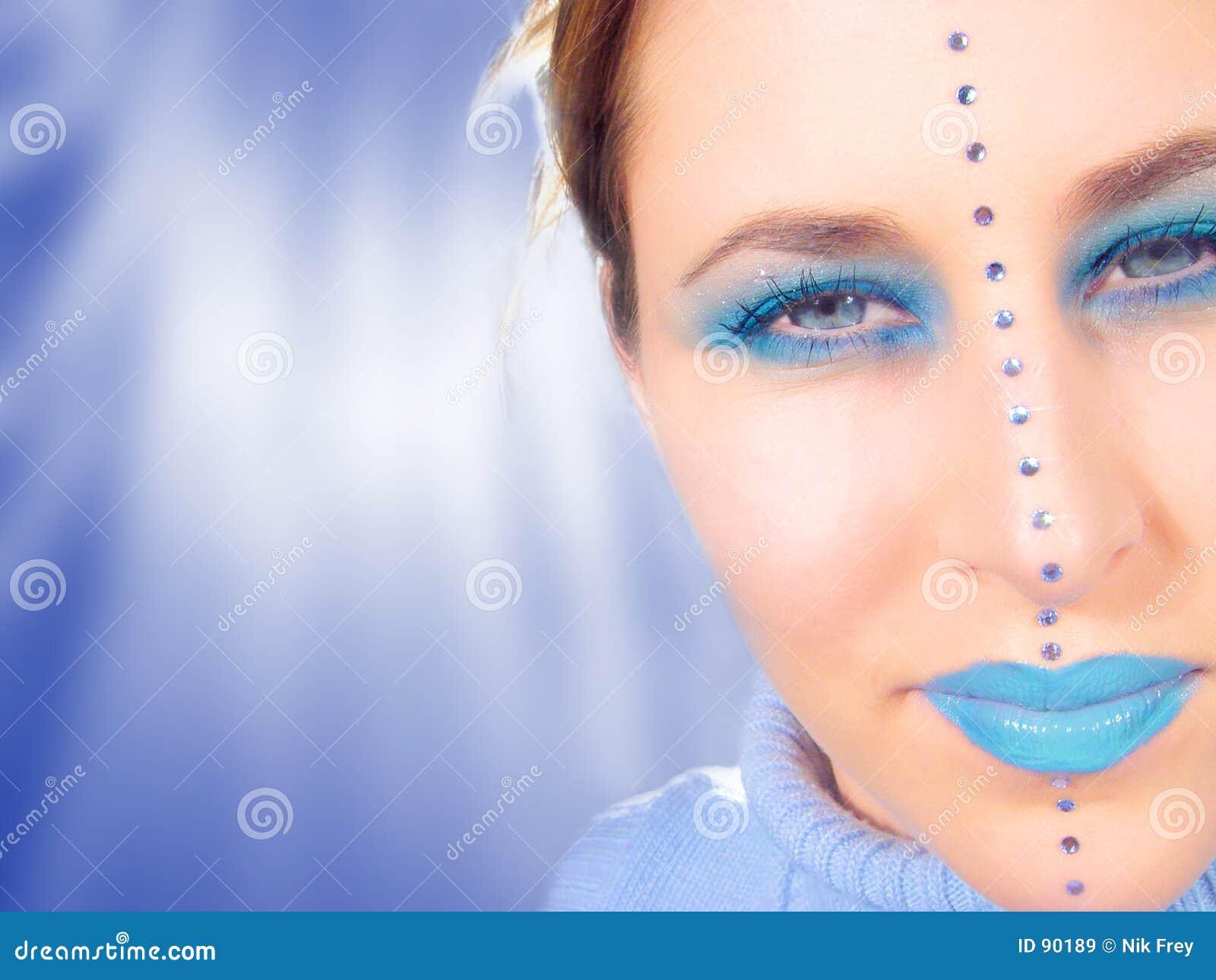 μπλε πρόσωπο