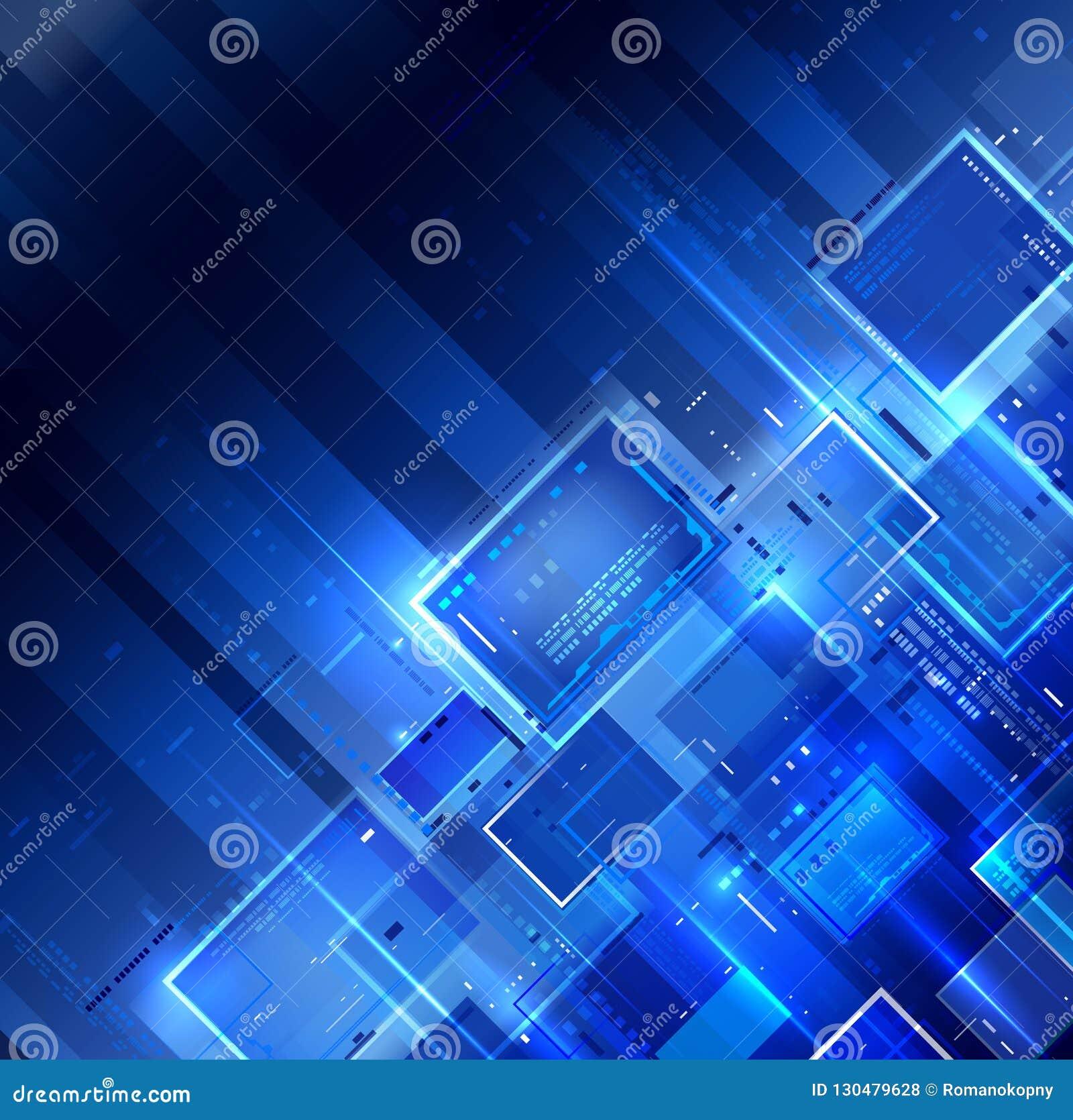 Μπλε σκοτεινό υπόβαθρο τεχνολογίας
