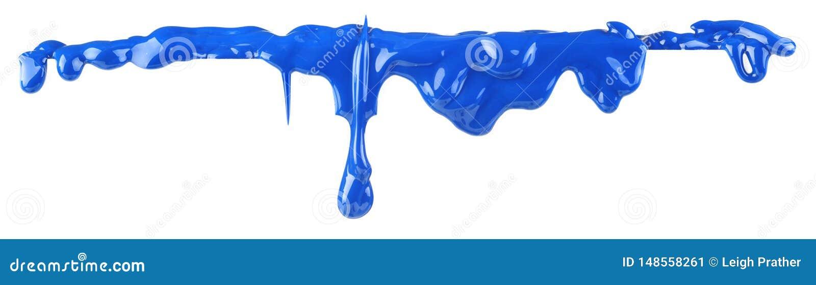 Μπλε στάλαγμα χρωμάτων που απομονώνεται
